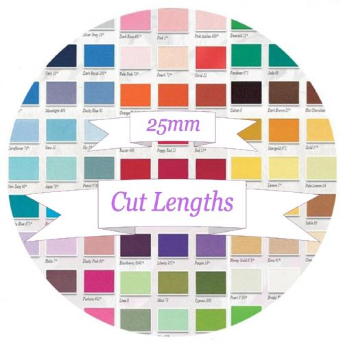25mm Berisfords Double Satin Ribbon - Cut Lengths